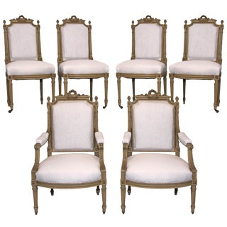 19th Century Antique French Dining Chairs - Set of 6