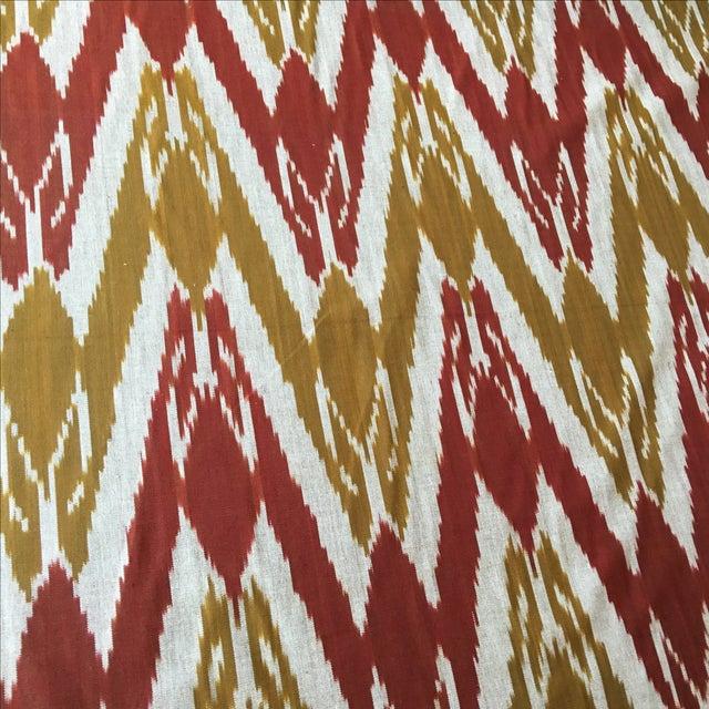 Handwoven Uzbek Ikat Fabric - 3 Yards - Image 8 of 10