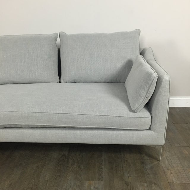 Modern Canvas Sectional Sofa - Image 4 of 8