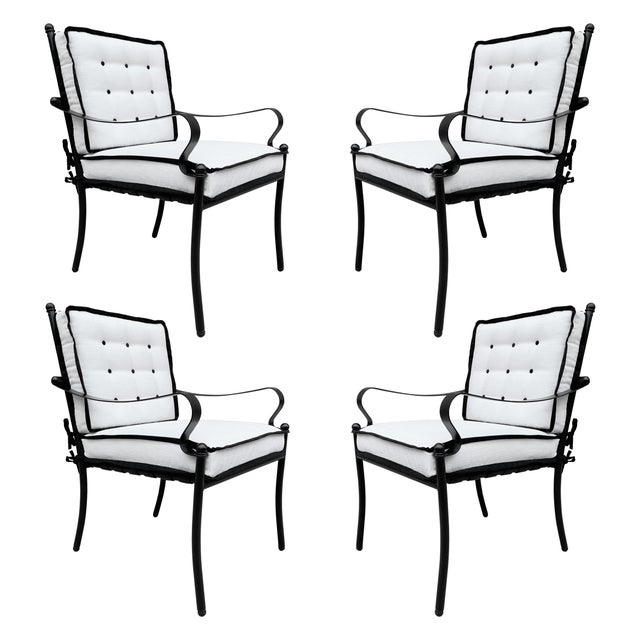 Set of Four Mid-20th Century American Iron Patio Chairs For Sale - Image 13 of 13