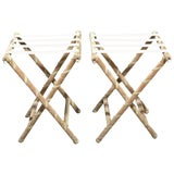 Image of Pair of Upholstered Luggage Racks From Villa Artemis, Palm Beach For Sale