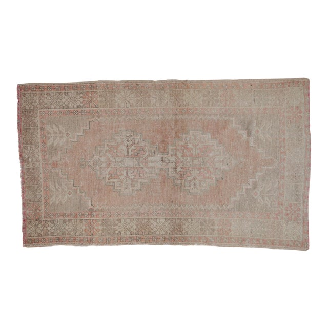 """Distressed Oushak Rug - 3'7"""" X 6'3"""" For Sale"""