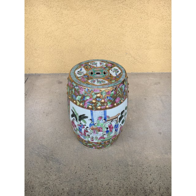 Contemporary Chinoiserie Garden Stool For Sale - Image 12 of 12