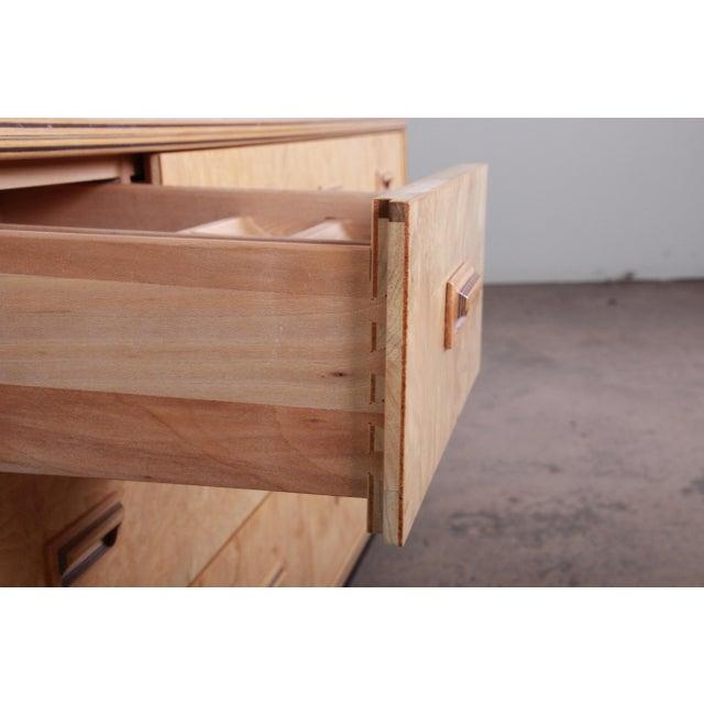 Milo Baughman Style Burl Wood Dresser or Credenza by Henredon For Sale - Image 9 of 13