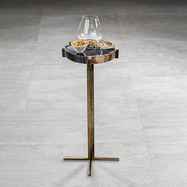 The Fortaleza Petrified Wood Martini Table This stunning example of decades of nature & science to form this amazing...