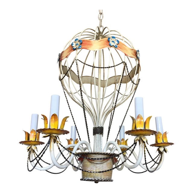 1950s Italian Hot Air Balloon Chandelier For Sale