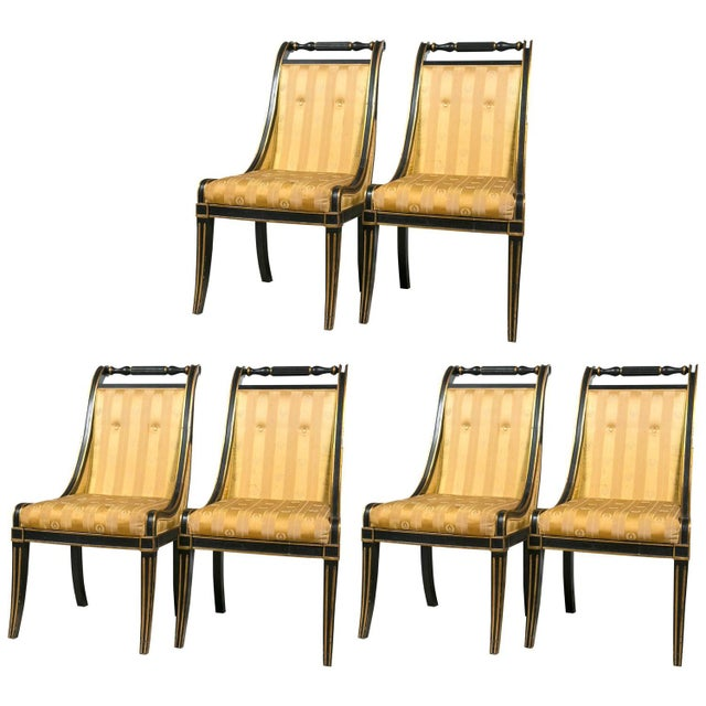 John Stuart Saber Leg Dining Chairs - Set of 6 - Image 1 of 9