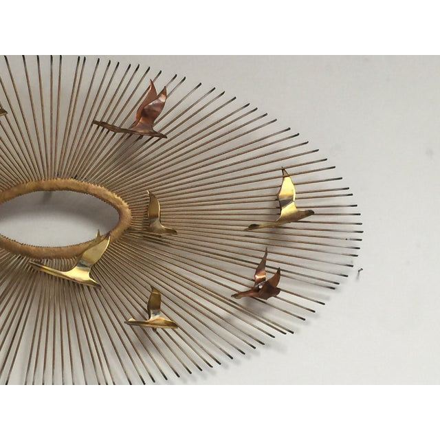 Curtis Jere Style Wall Hanging Sunburst Sculpture - Image 4 of 5