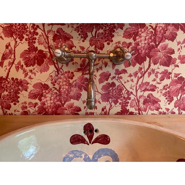 2000 - 2009 Custom Pine 3-Drawer Bathroom Vanity With Talavera Sink For Sale - Image 5 of 13