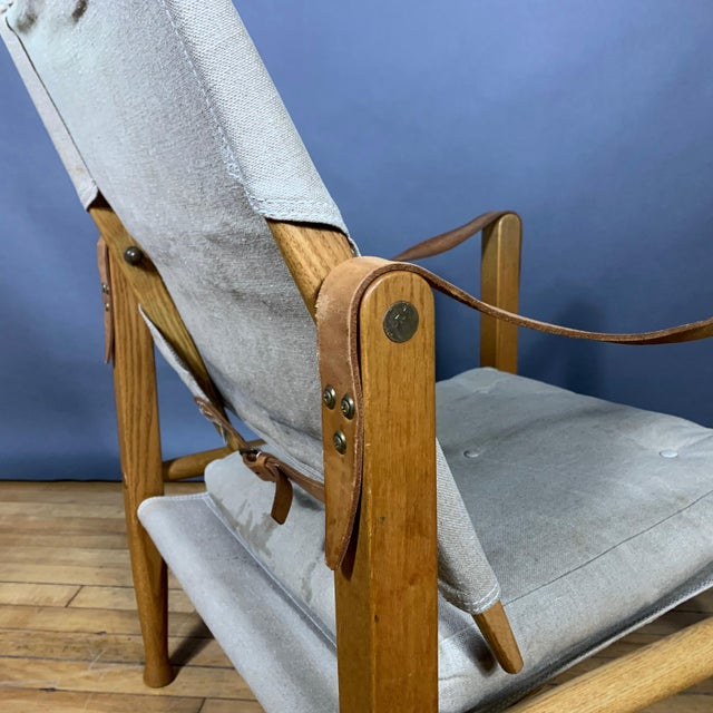 Kaare Klint Safari Chair, Rud Rasmussen, Denmark For Sale - Image 10 of 11