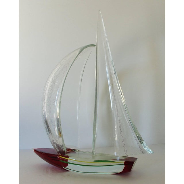 Modern Sailboat Sculpture by Alberto Dona' For Sale - Image 3 of 10