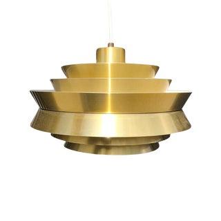 "Vintage Carl Thore ""Trava"" Pendant Light in Brass For Sale"