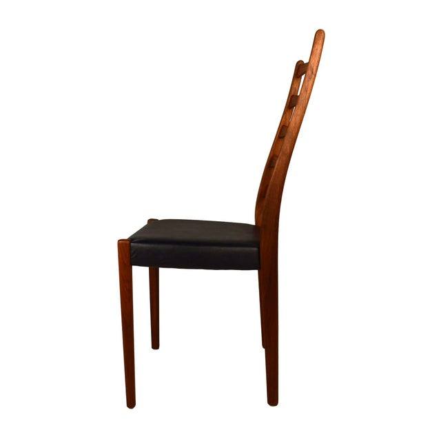 Set Of 4 Teak Ladder Back Chairs By Svegards - Image 6 of 10