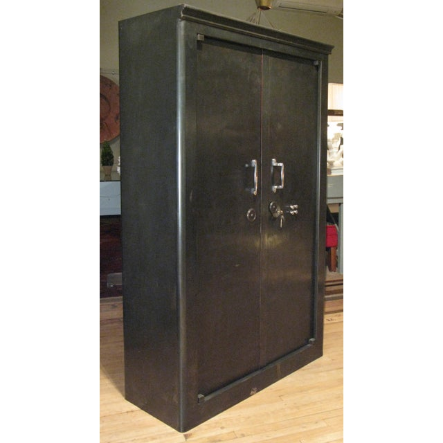 Antique French Steel Safe Cabinet For Sale - Image 4 of 8