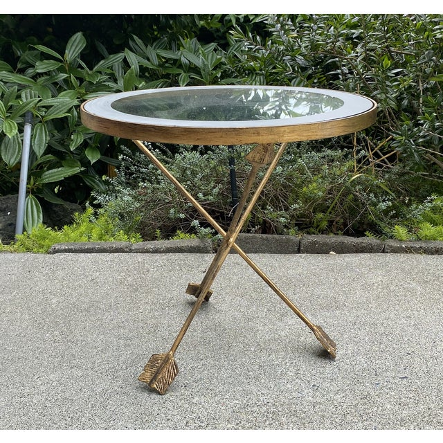 2010s Golden Arrows Gueridon Side Table For Sale - Image 5 of 5