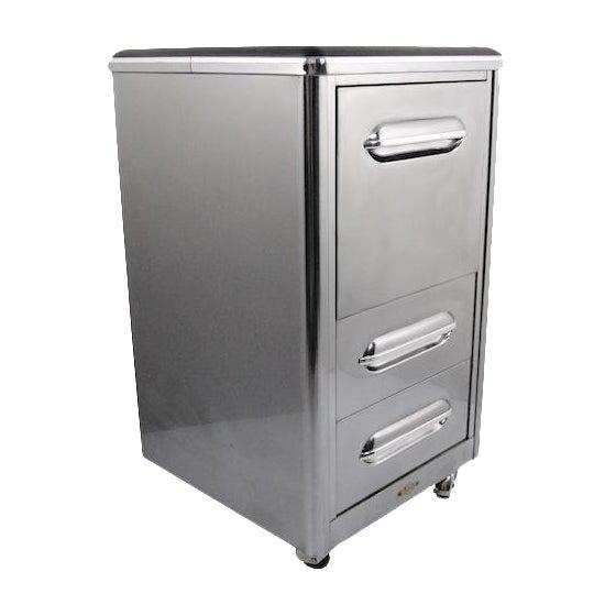 1940's Jamestown Polished Metal File Cabinet - Image 1 of 5