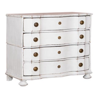 18th Century Baroque White Painted Chest of Drawers For Sale