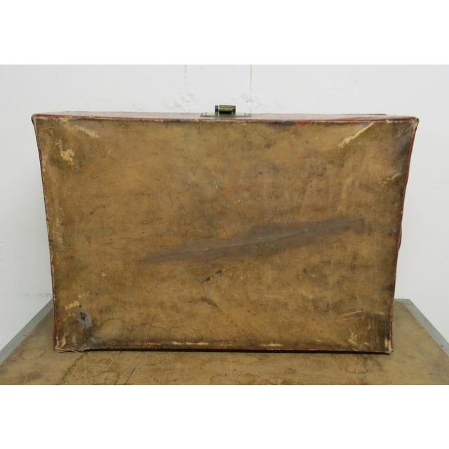 Antique Chinese Leather Trunk For Sale - Image 10 of 13