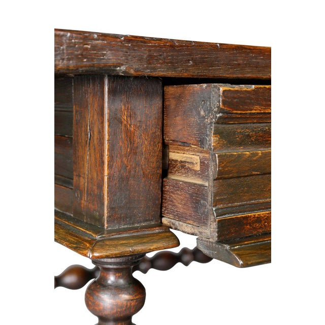 Charles II Oak Tavern Table For Sale - Image 5 of 12