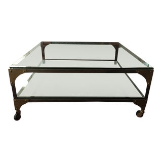 West Elm Glass & Iron Coffee Table