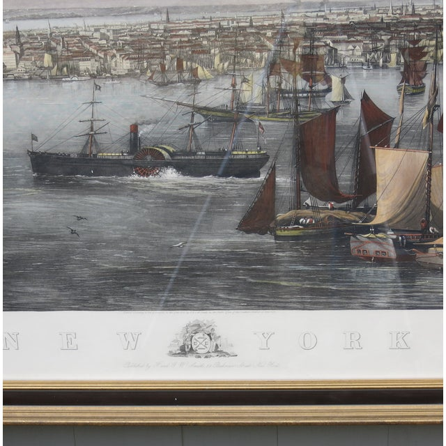 New York Harbor Print by Jw Hill For Sale - Image 4 of 8