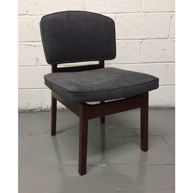 Set of Four Walnut Jens Risom Chairs - Image 2 of 6