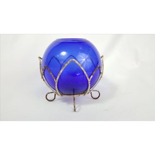 Cobalt Glass Globe Candle Holder & Wire Stand Preview