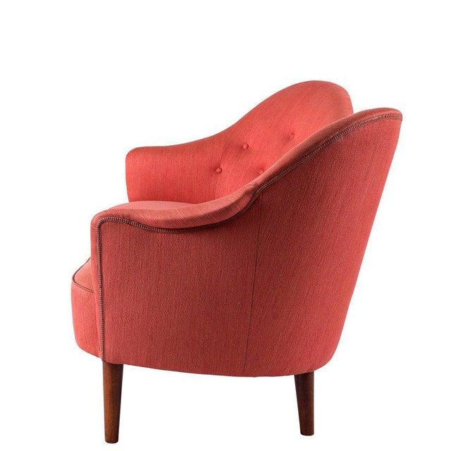 "Red Carl Malmsten ""Samspel"" Sofa For Sale - Image 8 of 10"