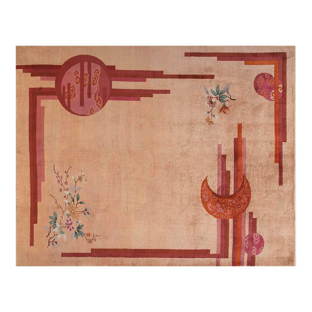 """Chinese Rustic Deco Rug - 8'3""""x10'10"""" For Sale"""