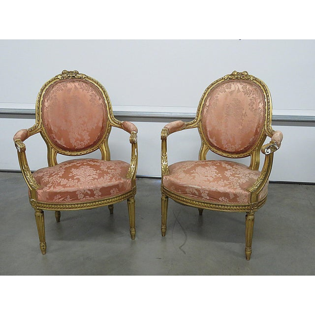 French Regency Style Arm Chairs - a Pair For Sale - Image 13 of 13