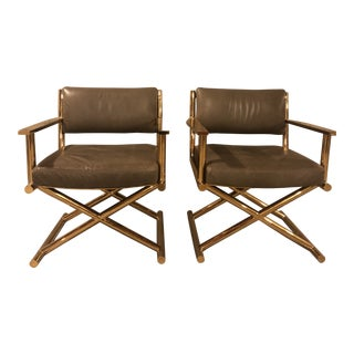 Restoration Hardware Altman Director's Chairs - a Pair For Sale