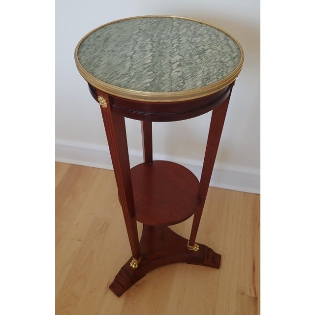 Mahogany Marble Top Pedestal For Sale - Image 4 of 9