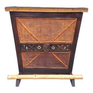 1950s Boho Chic Bamboo Rattan Tiki Bar