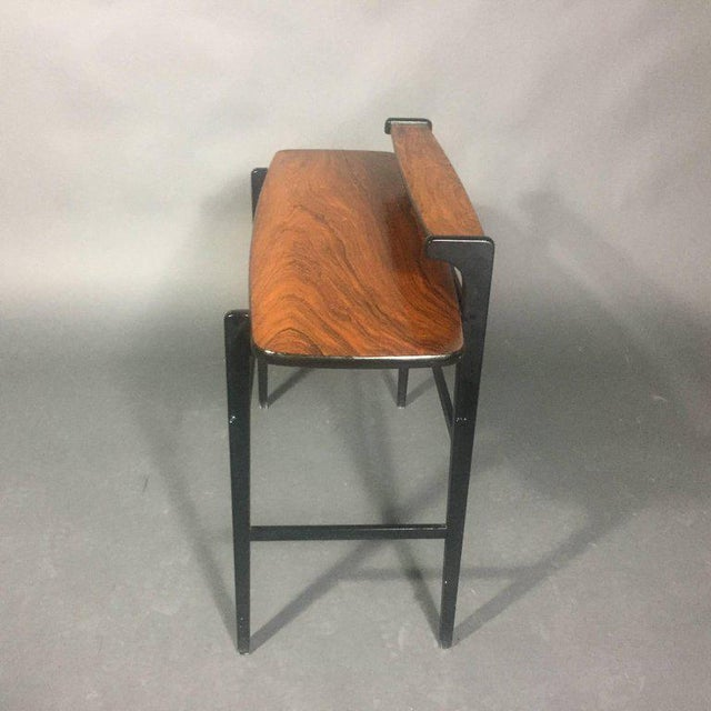 Pair of Italian 1970s Rosewood End Tables For Sale In New York - Image 6 of 11