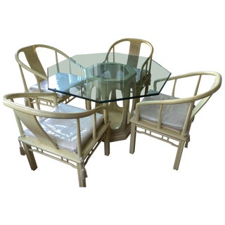 Asian Style Dining Set Attr. James Mont For Sale