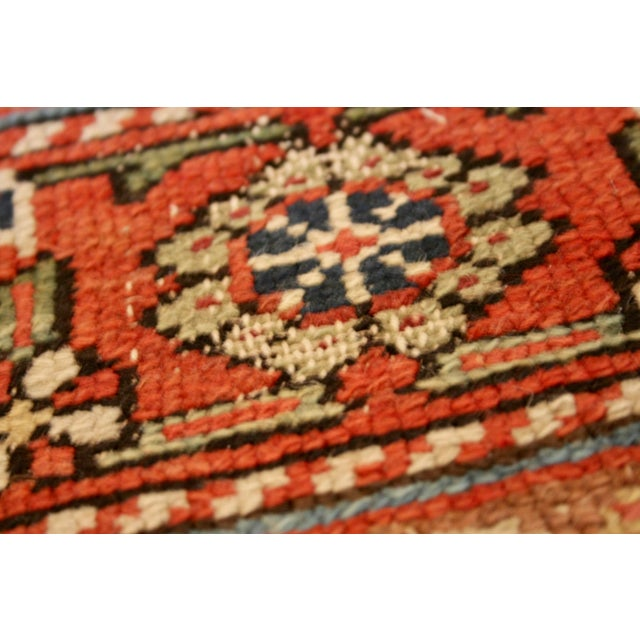 "Long Vintage Hand-Knotted Wool Rug - 13′5″ X 3'8"" - Image 9 of 11"