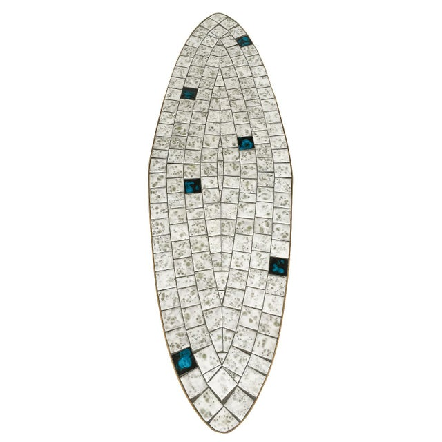 Italian Brass Tiled Top Surfboard Coffee Table For Sale In Chicago - Image 6 of 13