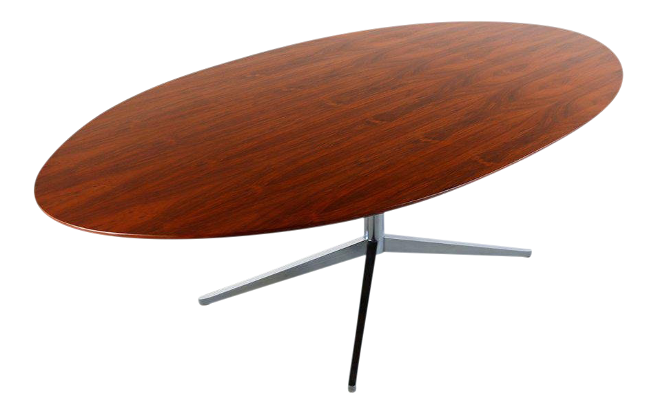 1970s Danish Modern Oval Rosewood Dining Table For Sale