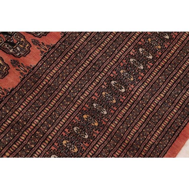 1980s Bokara Arya Leon Rose & Black Wool Rug - 9'4 X 11'11 For Sale - Image 5 of 9