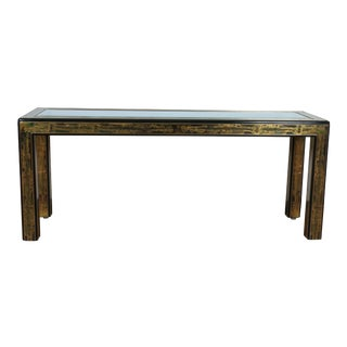 Mid Century Etched Console by Bernhard Rohne for MasterCraft For Sale