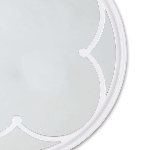Traditional Lula Quatrefoil Mirror Small in White For Sale - Image 3 of 5