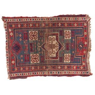 """Antique Farchlou Kazak Rug- 3'9"""" x 5'1"""" For Sale"""