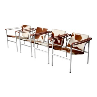 Le Corbusier Lc1 Sling Chairs - Set of 4 For Sale