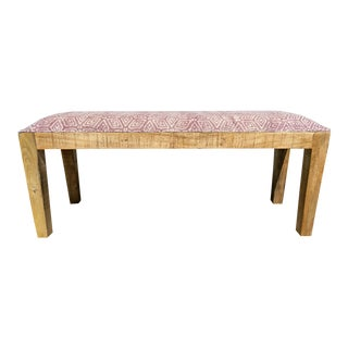 Boho Chic Mudcloth Style Bench