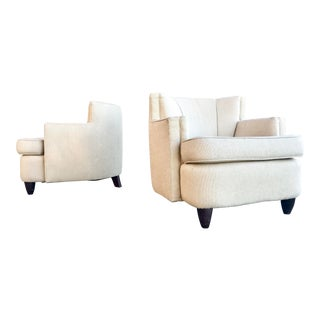 Ccf Barrel Lounge Chairs - a Pair For Sale