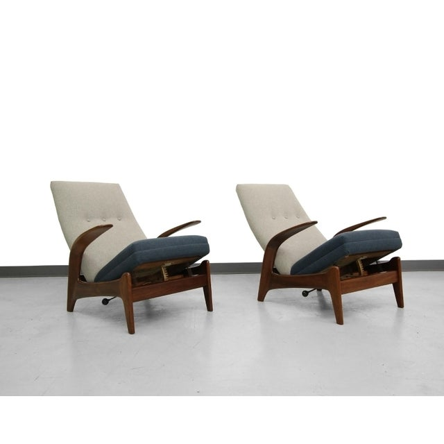 Vintage Gimson & Slater Reclining Lounge Chairs - A Pair - Image 6 of 7