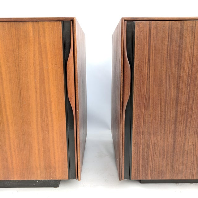 Brown 1960s John Kapel for Glenn of California Walnut Nightstands - a Pair For Sale - Image 8 of 12