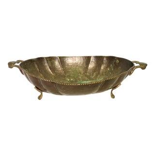 Hammered Brass Cachepot
