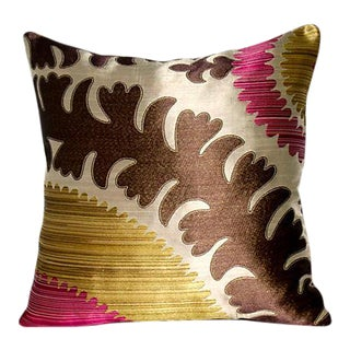 Donghia Silk & Velvet Suzani Accent Pillow Cover