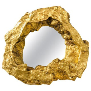 1990s Modern Gold Leaf Wall Mirror For Sale